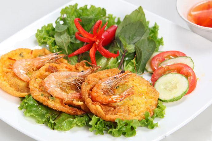 banh tom ho tay – west lake crispy shrimp cake