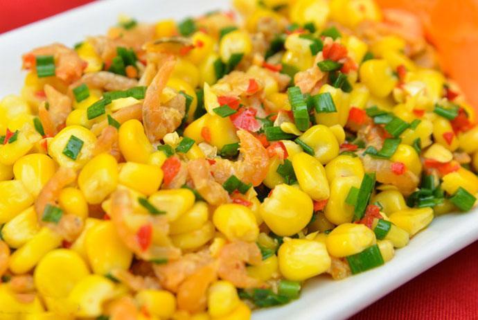 bap xao – stir-fried corn