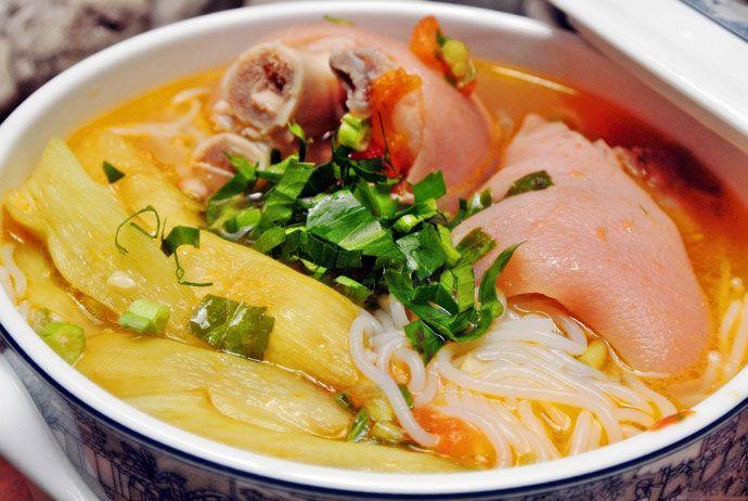 bun bung - colocasia gigantean vermicelli soup