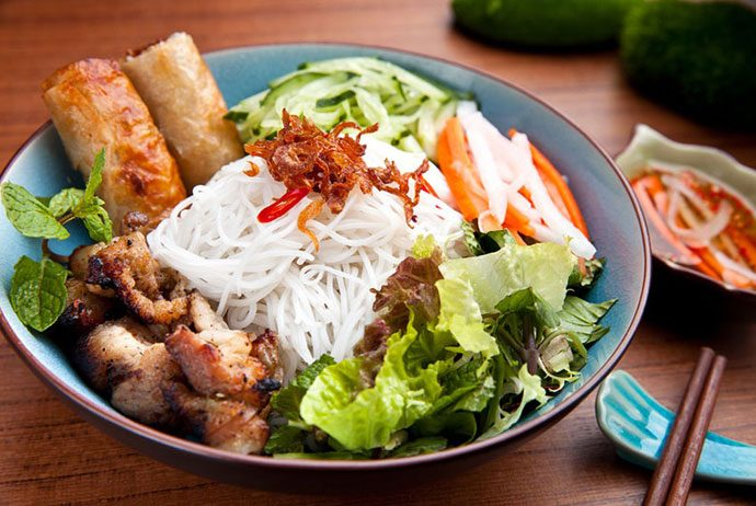 bun thit nuong - grilled meat vermicelli