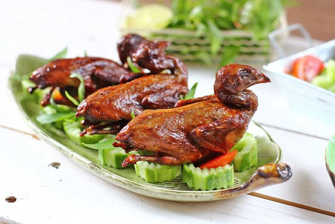 chim cut chien bo – quail fried with butter