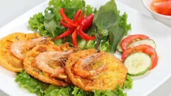banh tom Ho Tay-west lake crispy shrimp cake