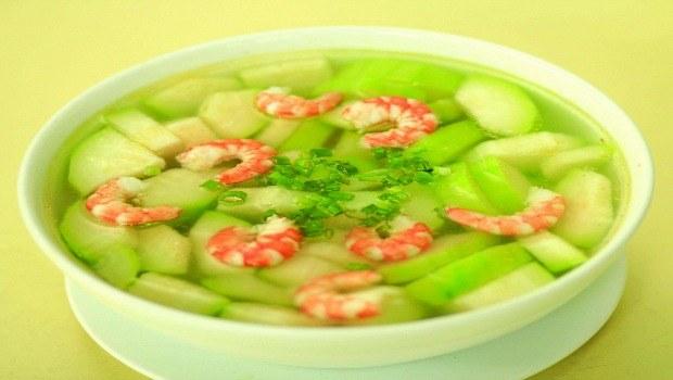 squash and fresh shrimp soup