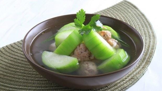 squash shrimp meat soup