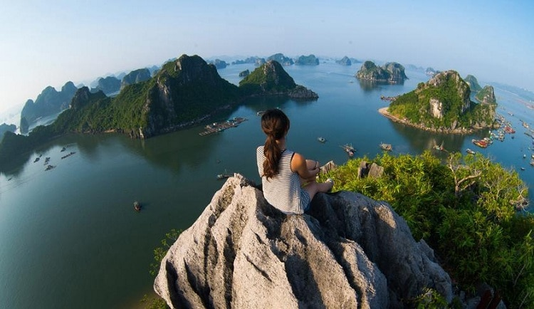 things to do in halong bay - climb mountain
