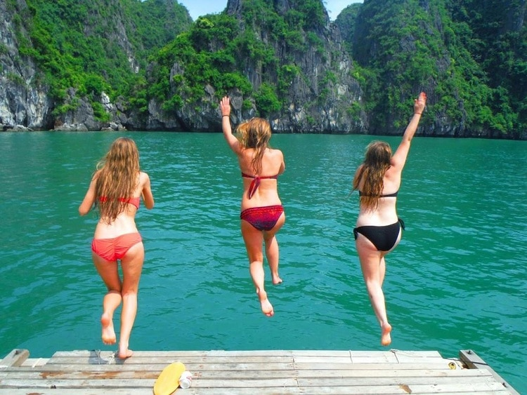 things to do in halong bay - swim