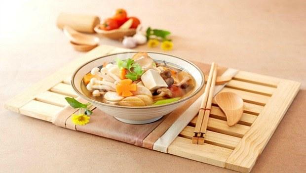 tofu root veggetables soup