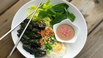 Vietnamese Grilled Beef in Piper Lolot Leaves
