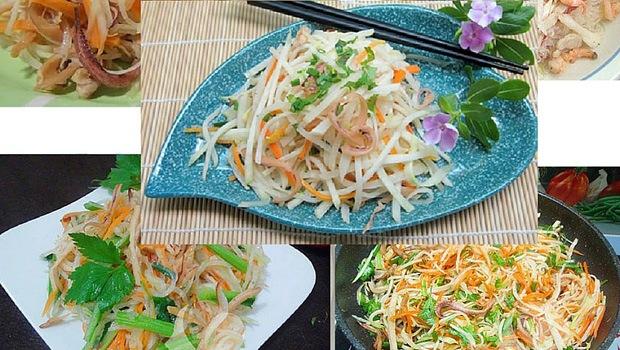 Vietnamese Kohlrabi Stir-Fried With Egg Recipe (Su Hào Xào Trứng)