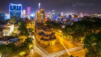Night scene in Saigon
