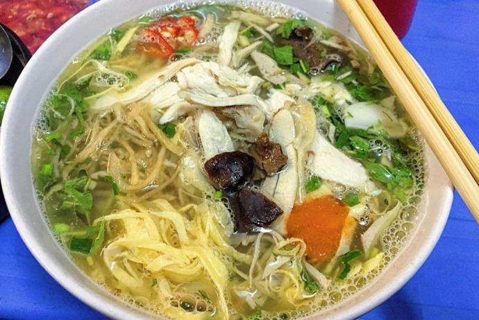 vietnamese combo vermicelli soup - bun thang ha hoi