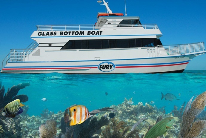 what are attractions in hon mun island - take a glass bottom boat exploring the ocean