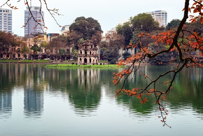 ha noi old quarter - hoan kiem lake and ngoc son temple
