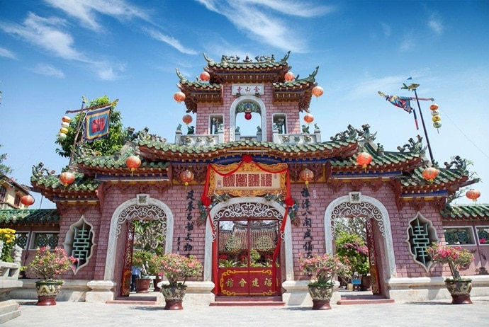 traveling to hoi an ancient town - phuc kien assembly hall