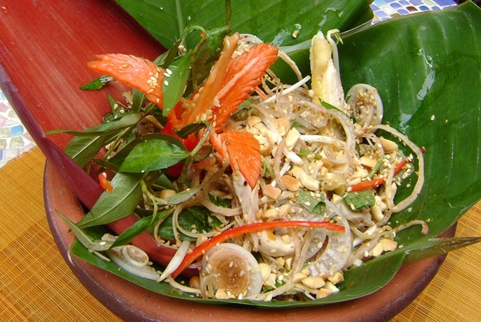 banana flower salad - ao quan
