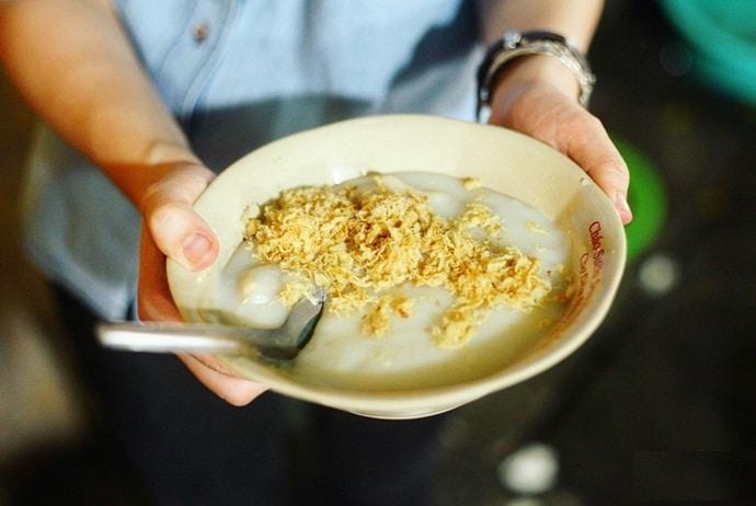 pork rib porridge - chao suon on tran xuan soan street