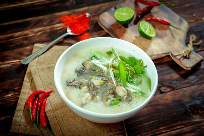 famous places for vietnamese oyster porridge - oyster porridge in vung tau