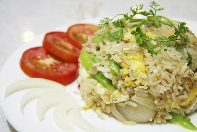 salted fish fried rice - hem quan