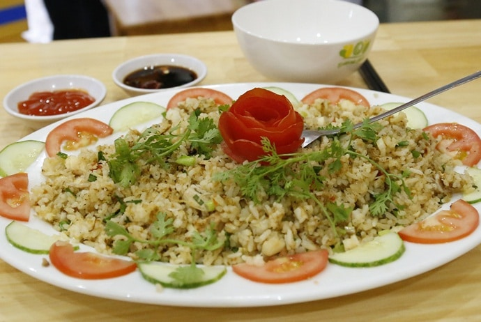 salted fish fried rice - kampong chicken house on dao tan street