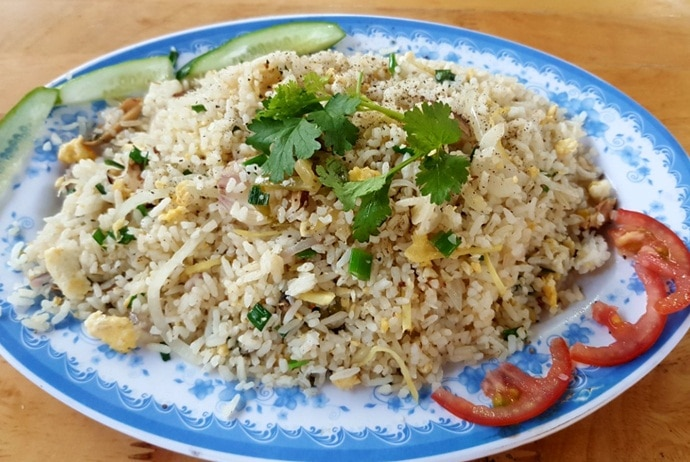 salted fish fried rice - nha hang san ho – teppanyaki