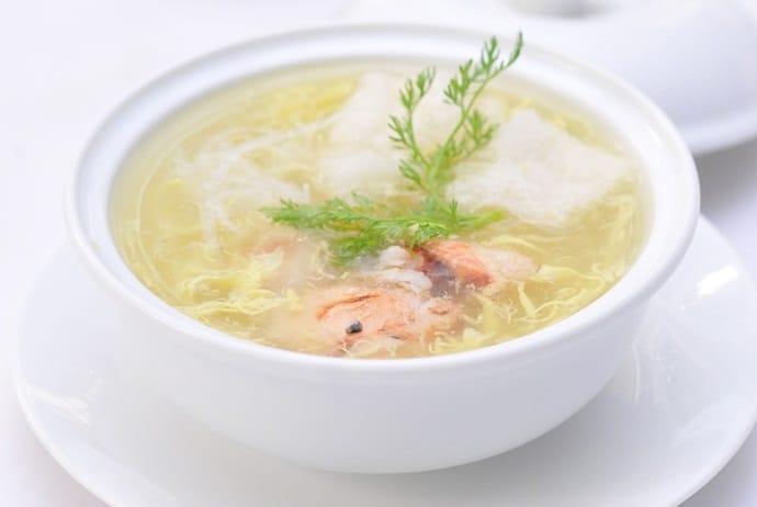 vietnamese crab soup - sup cua on nguyen du street