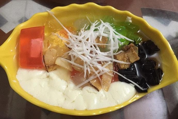 vietnamese soybean curd - tao pho jelly bean