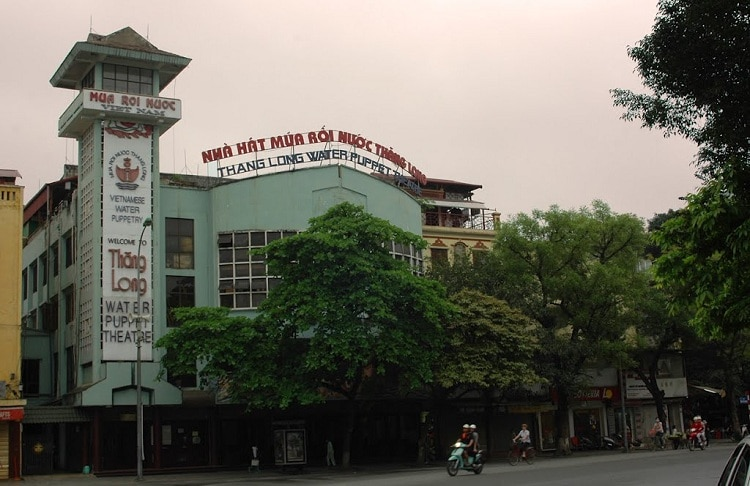 thang long water puppet theatre in hanoi