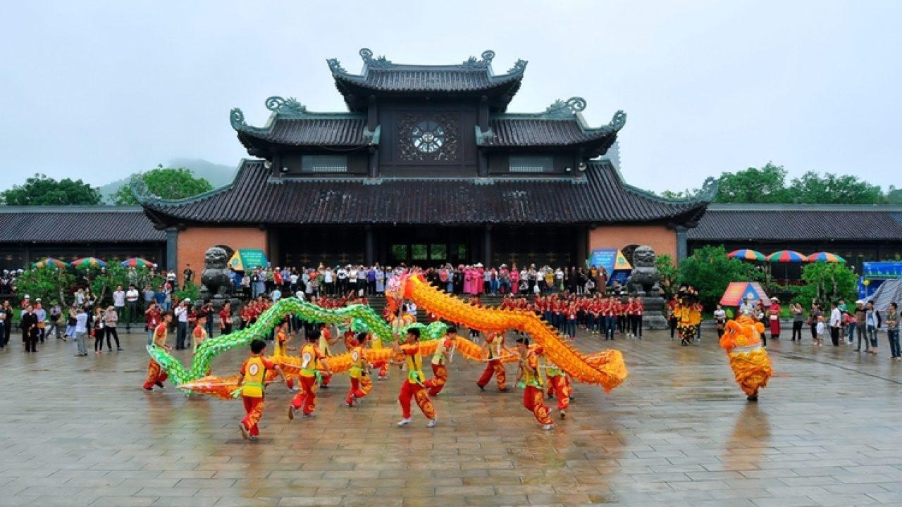 Traditional Bai Dinh Pagoda Festival In Ninh Binh Province, Vietnam