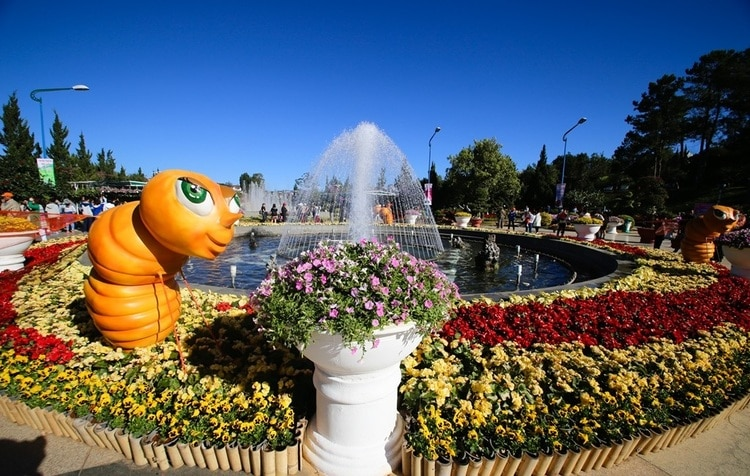 vietnam photos - dalat flower festival