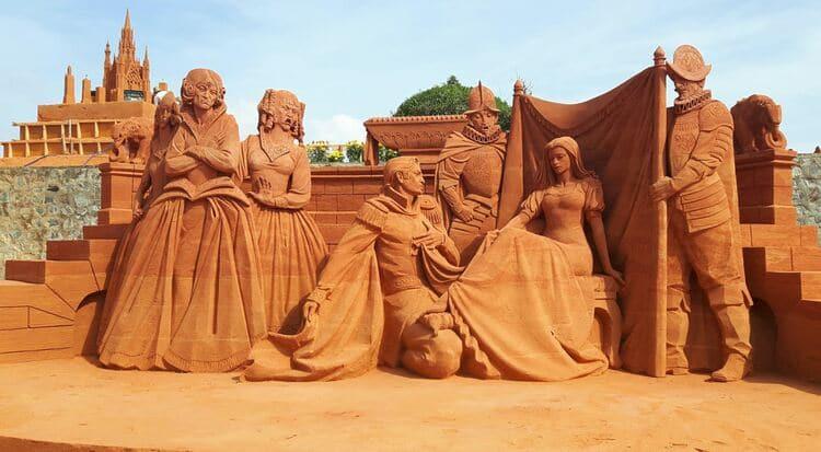 vietnam photos - sand sculpture park