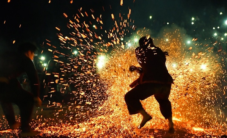 Fire Dancing Festival Of Pa Then People In Ha Giang Province