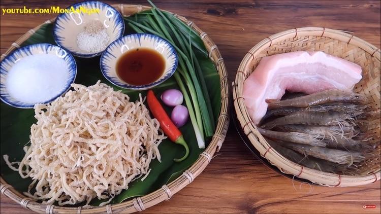 braised shrimp and pork with pickled radish recipe