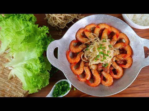 Vietnamese Braised Shrimp And Pork With Pickled Radish Recipe