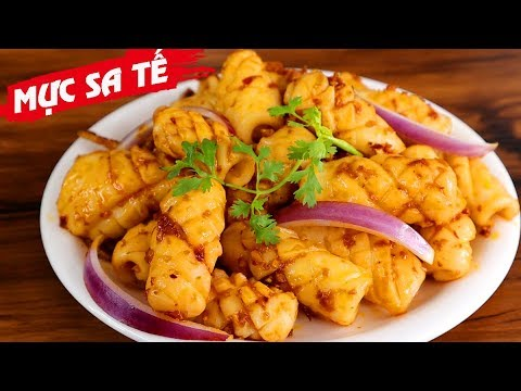 Vietnamese Fried Squid With Satay Sauce Recipe: Detailed Steps