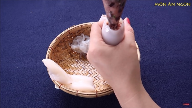 vietnamese pork stuffed squid braised in coconut water recipe