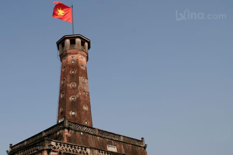 hanoi flag tower in vietnam