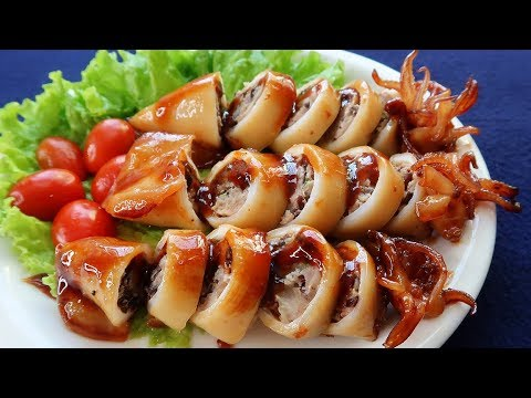 Vietnamese Pork Stuffed Squid Braised In Coconut Water Recipe: How To Make It Right