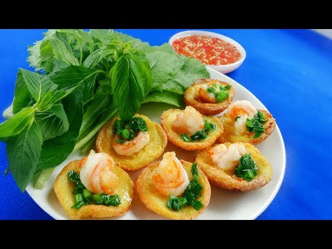 Crispy Tasty Vietnamese Shrimp Small Pancake Recipe – Khot Cake