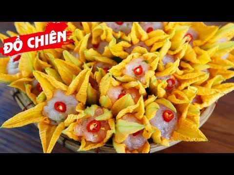 Delicious Crispy Fried Fish Cake Stuffed Pumpkin Flowers Recipe – Try It Now!