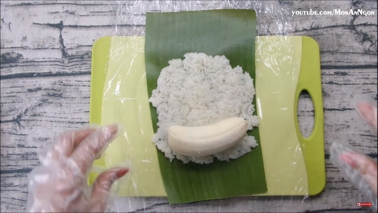 grilled banana sticky rice recipe