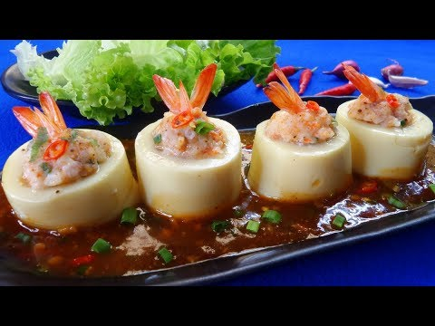 Mouth-watering Soft Vietnamese Steamed Egg Tofu With Shrimp Recipe