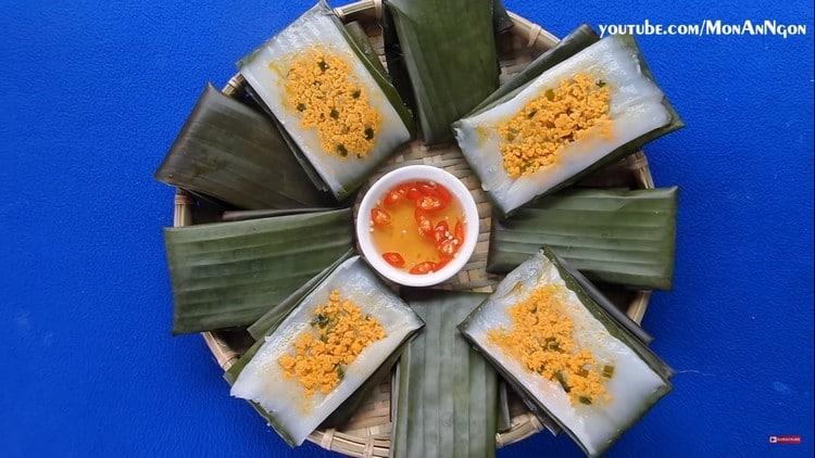vietnamese steamed shrimp and pork rice cake recipe