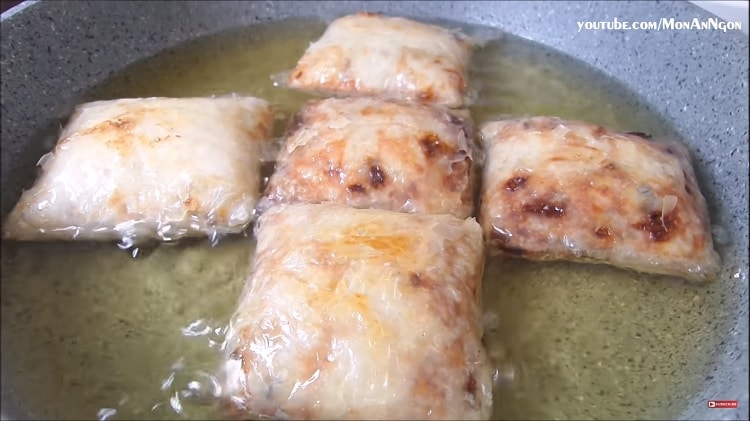 tasty square crab spring rolls recipe