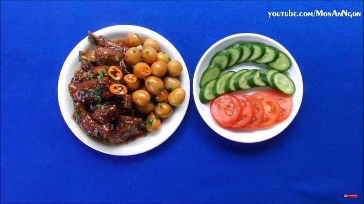 tasty braised pork ribs with quail eggs recipe in vietnam