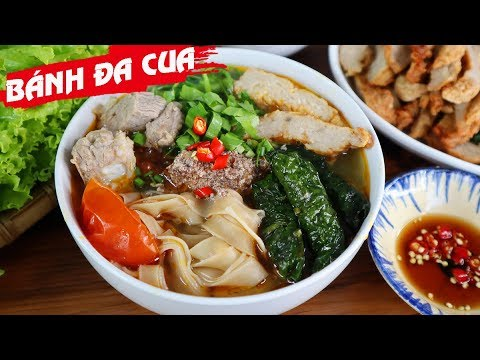 Vietnamese Crab Red Rice Noodle Soup Recipe – Speciality Of Hai Phong