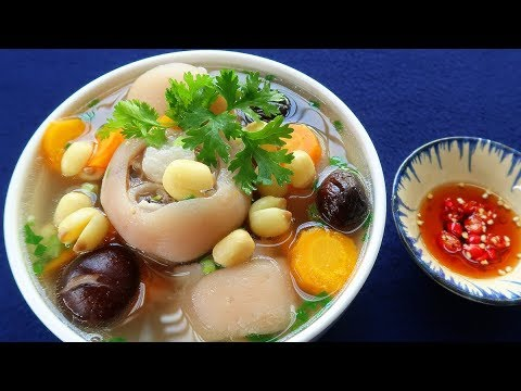 Vietnamese Pig Trotter Soup With Lotus Seed Recipe